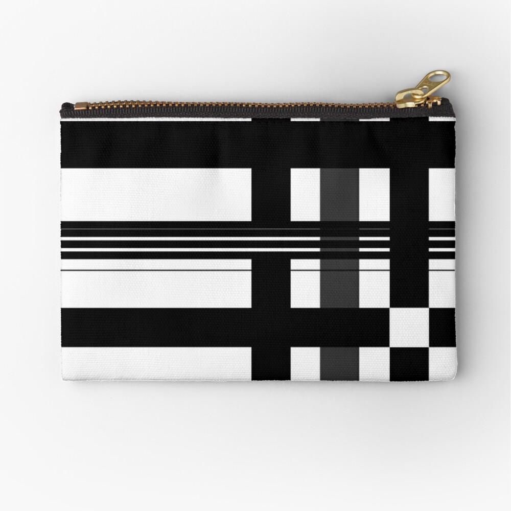 Black n' White plaid Zipper Pouch