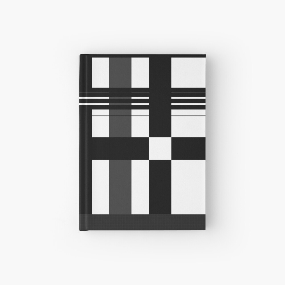Black n' White plaid Hardcover Journal
