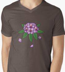 Rhododendron ponticum (No Text) Men's V-Neck T-Shirt