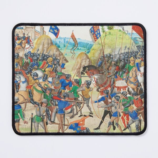 Battle of Crecy was an important Plantagenet victory of the Hundred Years' War in France. Mouse Pad