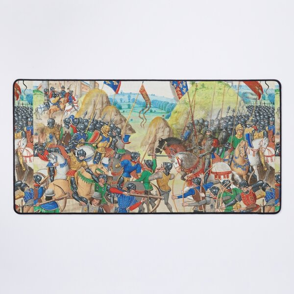 Battle of Crecy was an important Plantagenet victory of the Hundred Years' War in France. Desk Mat