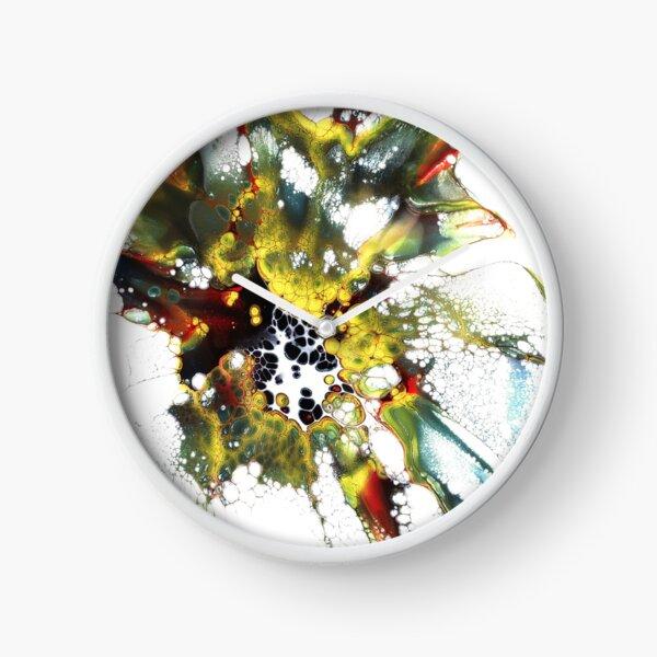 Acrylic Paint Splatter 1 Clock