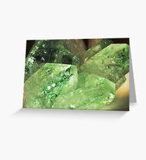 Green Glitter (Apophyllite) Greeting Card