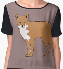 cute fox Chiffon Top