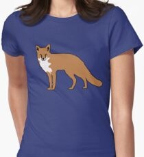 cute fox Womens Fitted T-Shirt