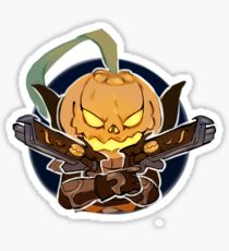 Pumpkin head Sticker