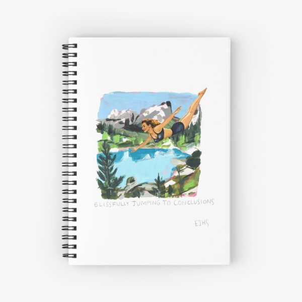 Blissfully Jumping To Conclusions Spiral Notebook