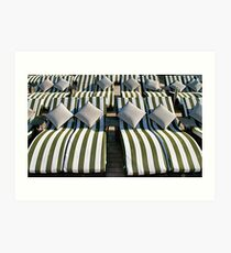 Deck Chair Comfort on The Rear Deck Art Print