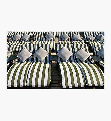 Deck Chair Comfort on The Rear Deck Photographic Print