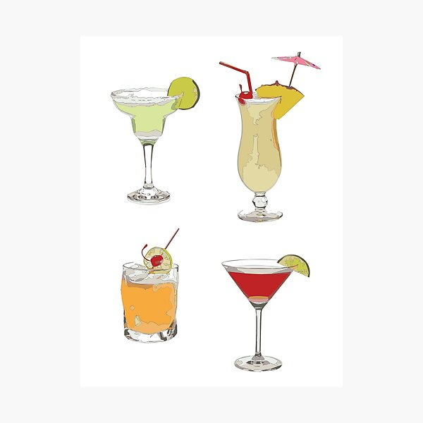 Cocktails Photographic Print