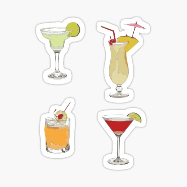 Cocktails Sticker