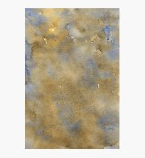 Blue-Brown Watercolor Photographic Print