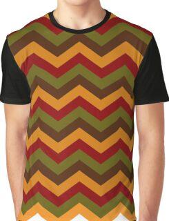 Fall Chevron Lines Graphic T-Shirt