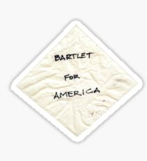 Bartlet for American Napkin Sticker
