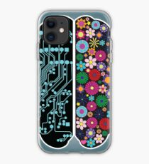 Left and right brain iPhone Case