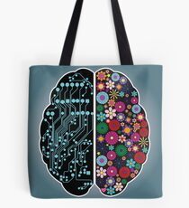 Left and right brain Tote Bag