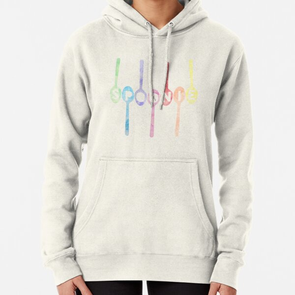 Spoonie Spoons Watercolor Pullover Hoodie