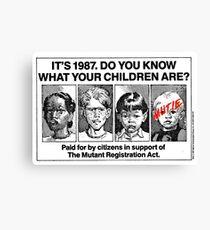 Mutant Advert Canvas Print