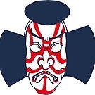 Kabuki Mask by Osamu Watanabe