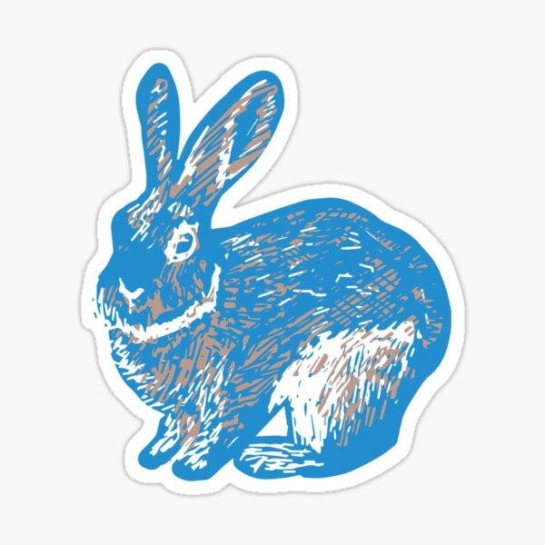 Rabbit - Blue Sticker