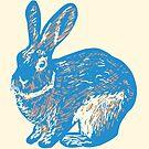Rabbit - Blue by Osamu Watanabe