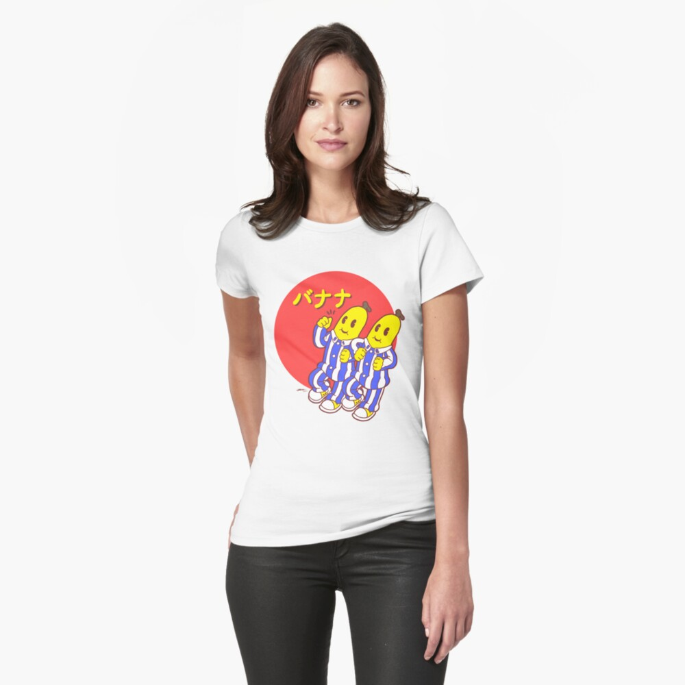 Ladies Japanese Bananas Fitted T-shirt