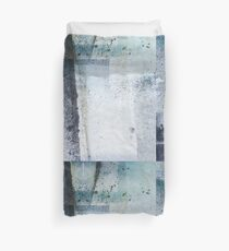 Modern Abstract ink pattern Design in blue and grey Duvet Cover