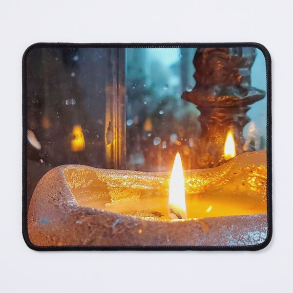 Stilllive With Large Candle  Mouse Pad