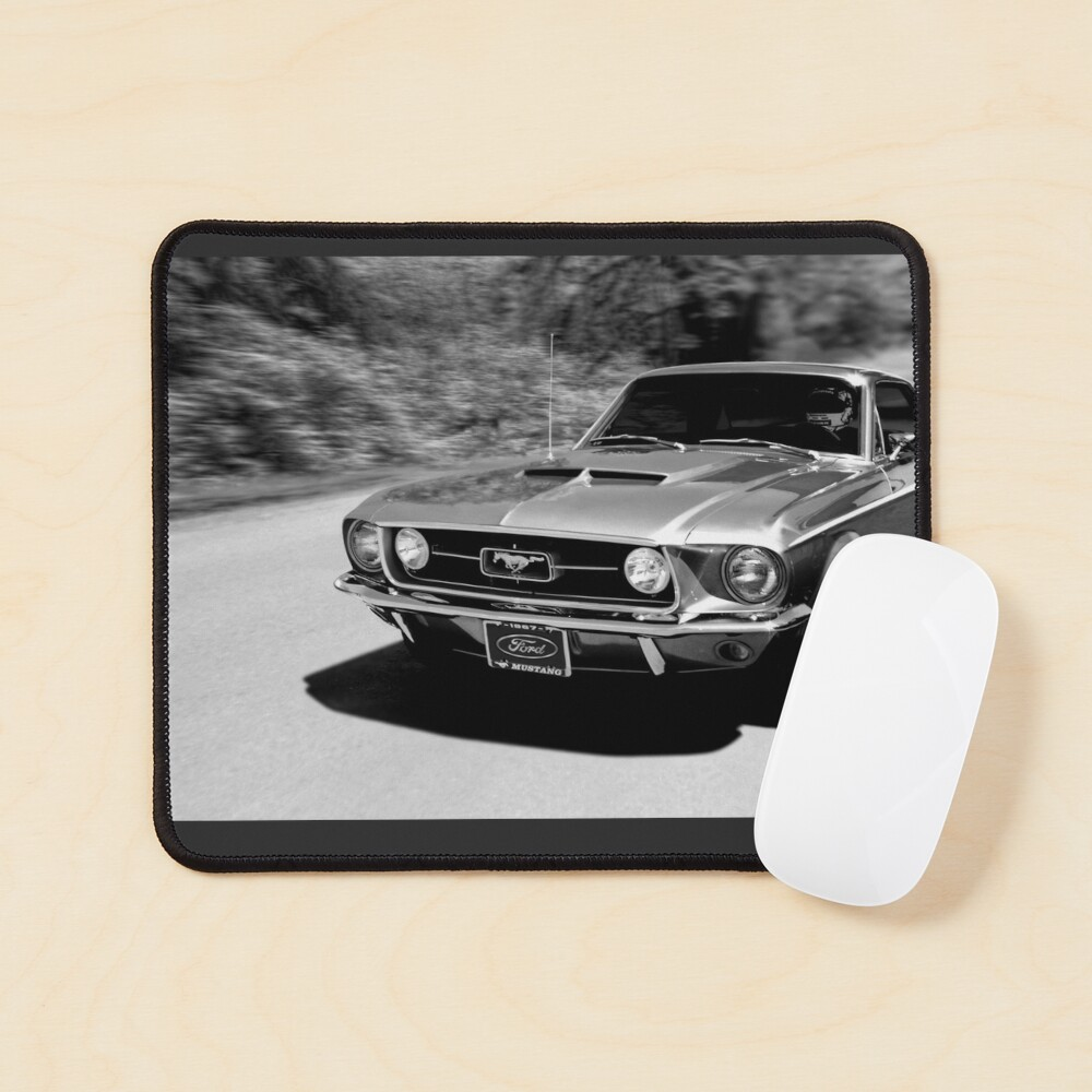 1967 Ford Mustang B/W  Mouse Pad