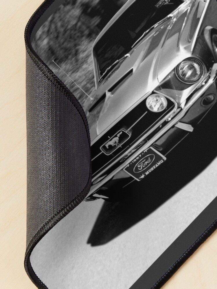 Alternate view of 1967 Ford Mustang B/W  Mouse Pad