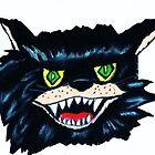 HALLOWEEN SCARY BLACK CAT by JoAnnHayden