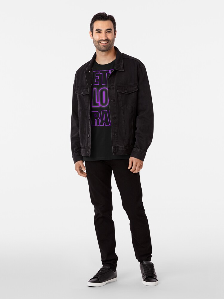 Alternate view of Let's Glow Crazy Purple Premium T-Shirt