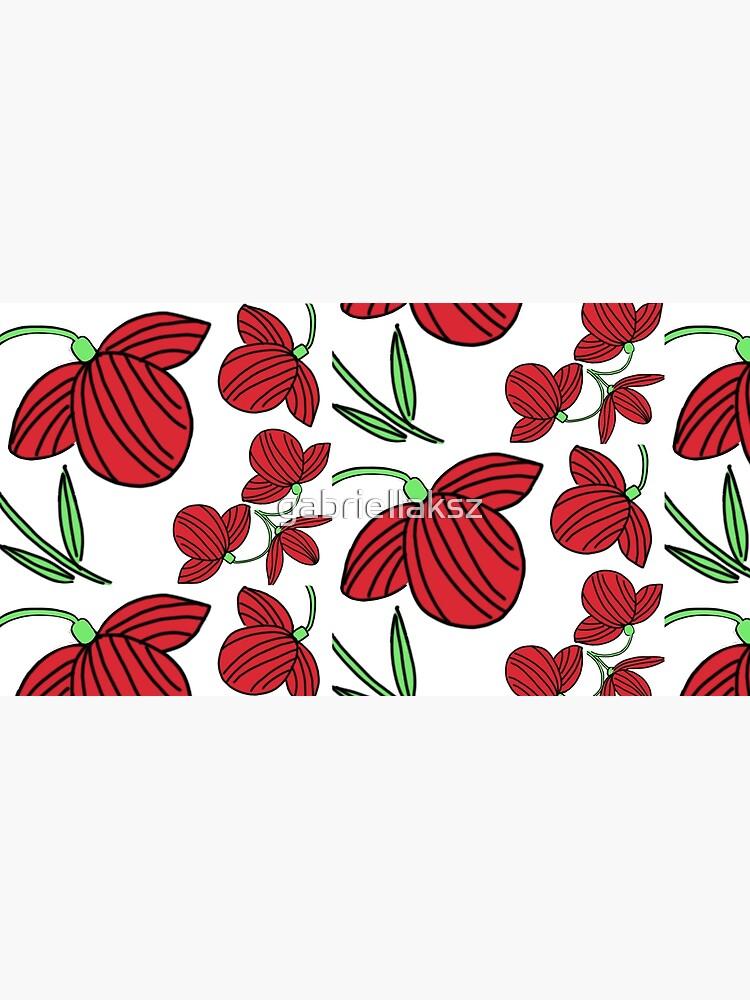 Red flower motif by gabriellaksz