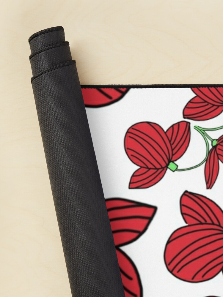 Alternate view of Red flower motif Mouse Pad