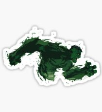 Angry Hulk Fan Art Marvel Comic Sticker