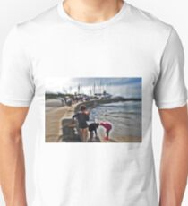 Orange Cup , children playing Mothers beach Mornington VIC AUS  T-Shirt