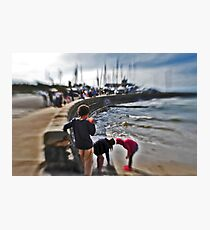 Orange Cup , children playing Mothers beach Mornington VIC AUS  Photographic Print