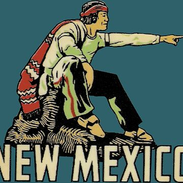 New Mexico NM State Vintage Travel Decal de hilda74
