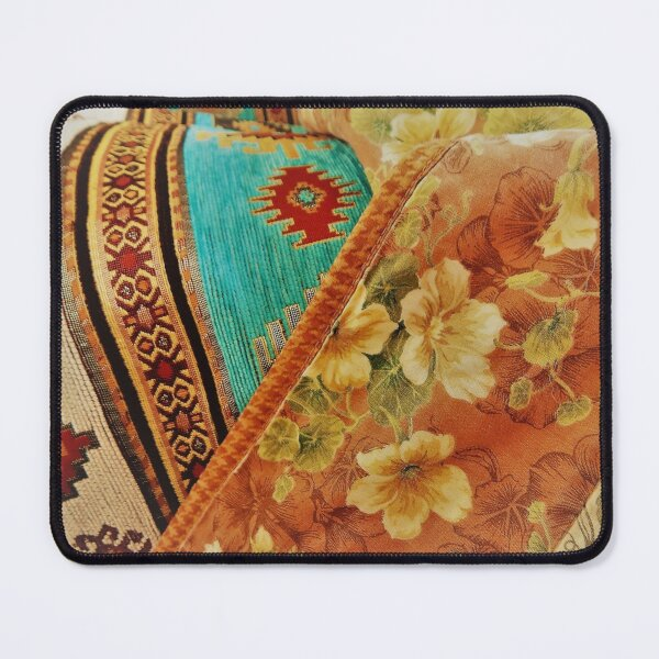 Someone threw a mixture of colorful curtain and carpet patterns together. I guess they did a good job. Mouse Pad