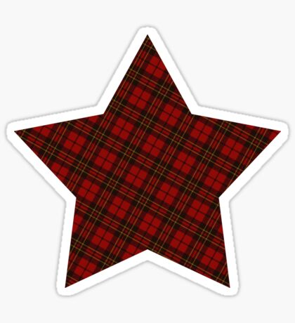 Adorable Red Christmas tartan  Sticker