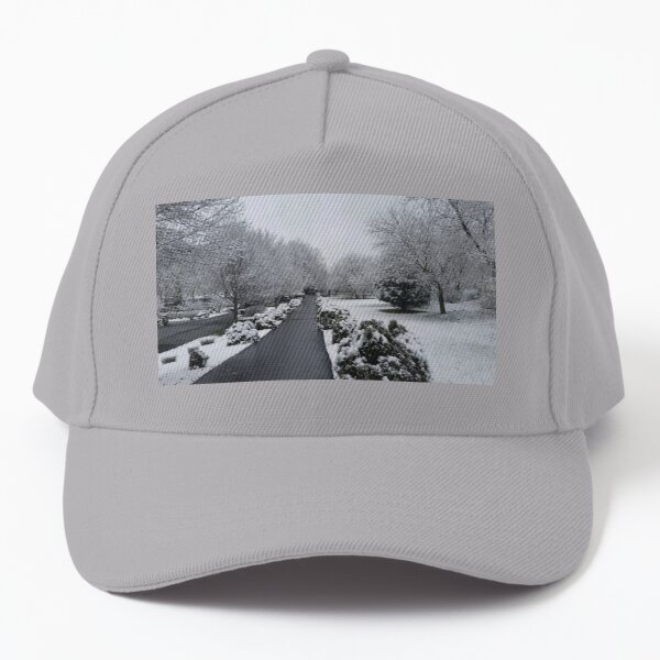 Snow covered Path Baseball Cap