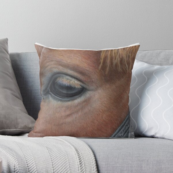 Its in the eye Throw Pillow