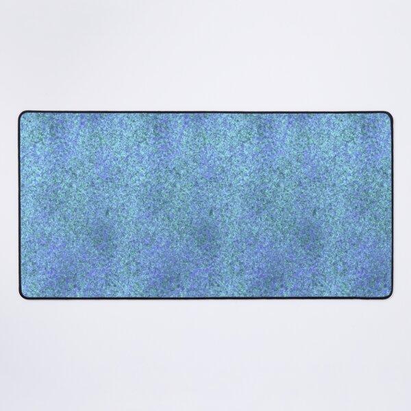 Light Snowfall ~ Blue and Green Abstract Fractal Art Desk Mat