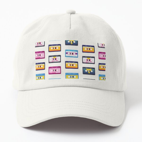 80s Vibe Cassette Tapes Retro Style  Dad Hat