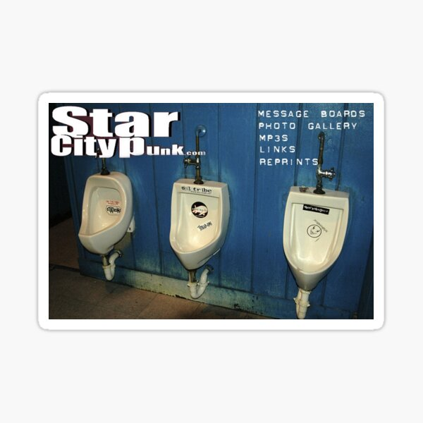 Star City Punk vintage web page Sticker