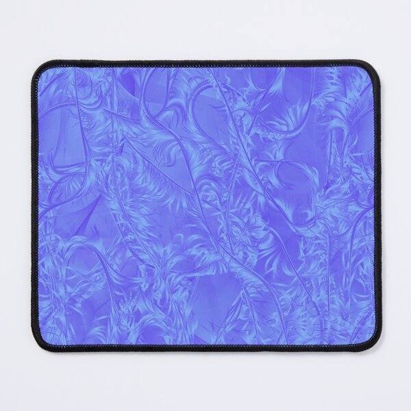 Sapient Frost ~ Blue Abstract Fractal Art Mouse Pad