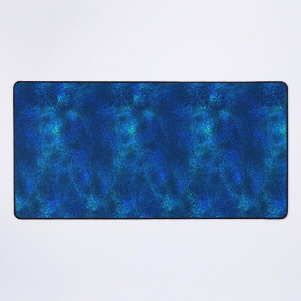 Celestial Wind ~ Blue Abstract Fractal Art Desk Mat