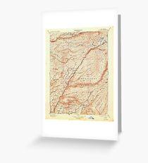 USGS TOPO Map California CA Big Trees 299220 1901 125000 geo Greeting Card
