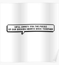 Safety Pin Lyrics 8-bit Poster