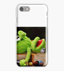 drunk Kermit  iPhone Case/Skin
